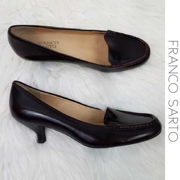 b007591c423 Franco Sarto Shoes - FRANCO SARTO Burgundy Brown L Jury Kitten Heels 8
